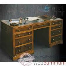 cuir pour bureau bureau amiral dessus cuir époque 19ème avec caisson pour dossier