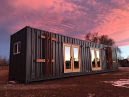 the intellectual tiny home was built using a recycled shipping