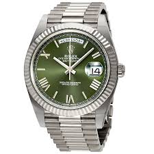 rolex day date automatic 18 carat white gold president s