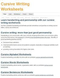 free printing and cursive handwriting worksheets