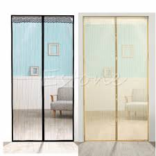 Magnetic Curtains For Doors Mesh Door Curtain Magic Magnetic Snap Fly Bug Insect Guard In