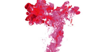 color drop in water ink swirling in water cloud of silky ink in