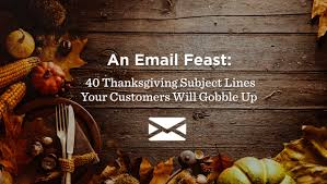 40 thanksgiving subject lines to gobble up verticalresponse