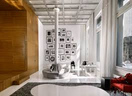 unusual and creative minimalist loft in nyc with a catwalk with