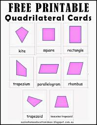 suzie u0027s home education ideas learning about quadrilaterals