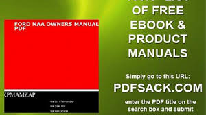 ford naa owners manual pdf video dailymotion