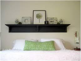 Headboard Bookshelf Headboard With Shelves And Light Headboard Shelf Tutorial