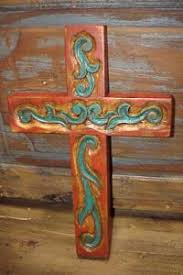 carved wooden crosses handmade cross made from the belt loops of belts and one jean