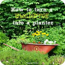 turn an old wheelbarrow into a planter simply swider