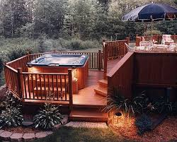 best 25 tub deck ideas on pinterest tub patio tubs