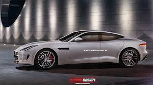 jaguar f type coupe based sports sedan rendered gtspirit