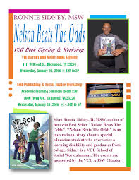 Barnes Noble Richmond Va Nelson Beats The Odds Barnes And Noble Vcu Book Signing