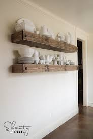 DIY Floating Shelf Plans For The Dining Room Shanty  Chic - Floating shelves in dining room