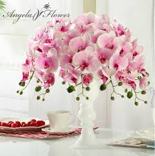 aliexpress com buy hi q 11pcs phalaenopsis artificial flower