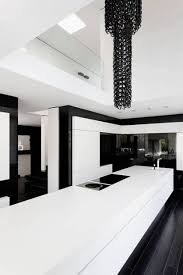 Black Gloss Kitchen Cabinets by Simple White And Black Small Kitchen Featuring Black Color Kitchen
