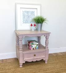 pink nightstand shabby chic furniture bed side table