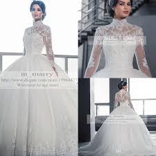 victorian arabic long sleeves ball gown wedding dresses princess