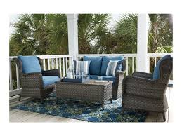 Turquoise Patio Furniture by Ashley Signature Design Abbots Court Outdoor Conversation Set