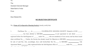 no objection certificate india format society noc format for home loan sbi google docs