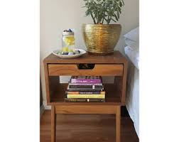walnut nightstand etsy
