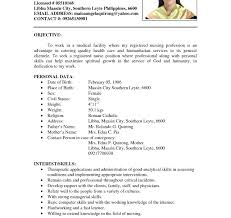 exles or resumes exle of resume to apply pdf in malaysia sle with