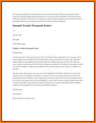 Sample Of Business Letter Proposal by 10 Tender Proposal Letter Sample Lease Template
