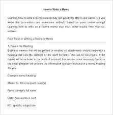 example memo 14 professional memo templates free sample example