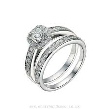 bridal ring sets uk cushion halo bridal ring buy cheap womens and mens jewelry