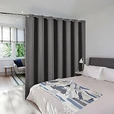 bedroom divider curtains amazon com roomdividersnow muslin hanging room divider kit