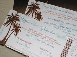 palm tree wedding invitations boarding pass wedding invitations boarding pass save the date