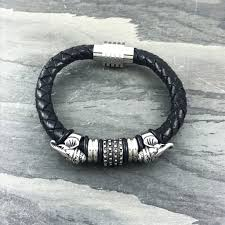 black woven leather bracelet images Enabler leather bracelet nonesuchcreations jpg