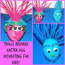trolls inspired easter egg crafts for kids wikki stix