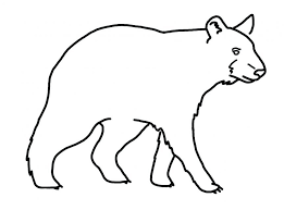 black and bear drawing library coloring pages flowers hearts for