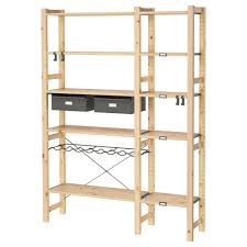 ivar pantry ivar 2 sections w shelves drawers ikea