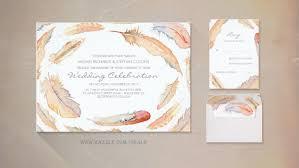 bohemian wedding invitations modern wedding wedding invitations by jinaiji
