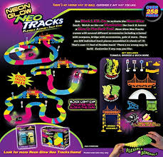 light up car track as seen on tv mindscope neon glow neo tracks twister tracks 258 piece flexible