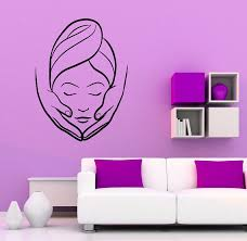 Interior Design For Ladies Beauty Parlour Spa Beauty Salon Wall Vinyl Decal Massage Sticker By Rossstickers