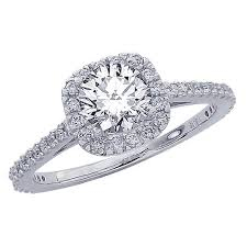 engagement rings 2000 0 8 carat 14k white gold gorgeous classic cushion halo style