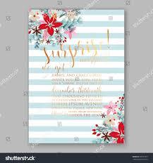 wedding invitation card template winter bridal stock vector