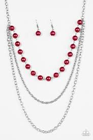 red necklace accessories images Paparazzi accessories right on the money red jpg