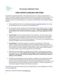 grant report template nf grant report template chicago community trust