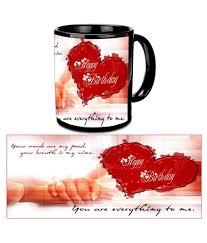 happy birthday design for mug beautiful love design happy birthday black ceramic mug buy online