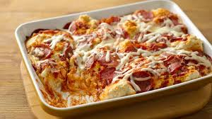 impossibly easy pizza bake recipe bettycrocker com
