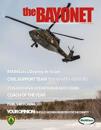 the bayonet march 2016 by maine national guard issuu
