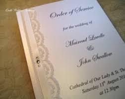 Order Wedding Ceremony Program Ceremony Booklet Etsy