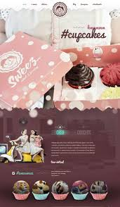 homepage design inspiration showcase of 10 beautiful cupcake website design