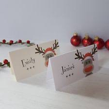 reindeer christmas table place cards ebay