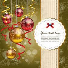 golden christmas ornament on red holiday card background free