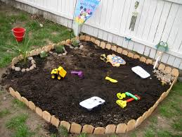 jack u0027s new garden dirt play area he absolutly loves it just