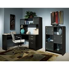 Bush Desks With Hutch Kathy Ireland Office By Bush Furniture New York Skyline L Desk